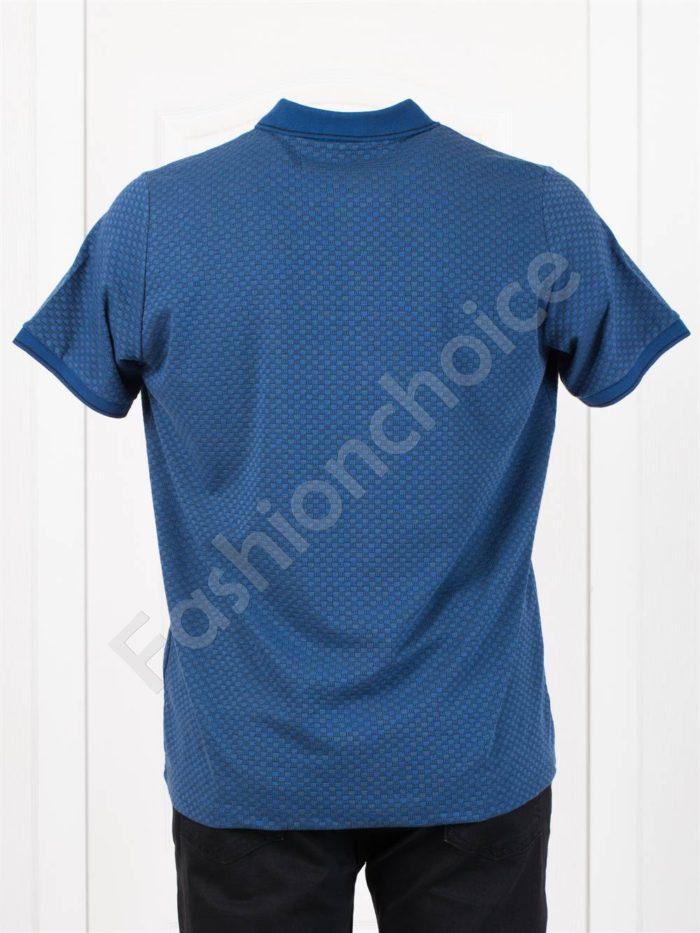 Мъжка макси блуза с якичка в цвят парламент-код 402