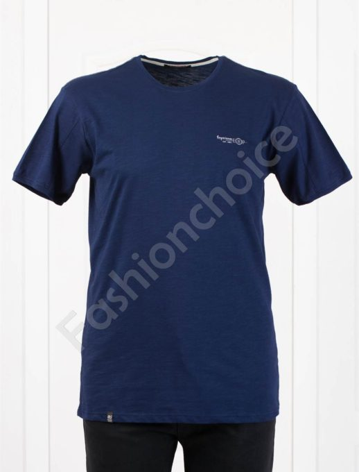 Изчистена мъжка макси тениска EXP в тъмносиньо-код 100-6