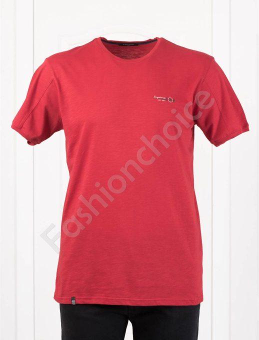 Изчистена мъжка макси тениска EXP в червено-код 100-11