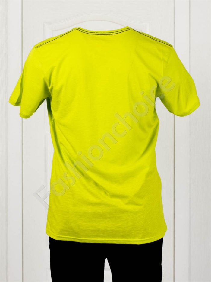 Изчистена мъжка макси тениска EXP в цвят резеда-код 100-10