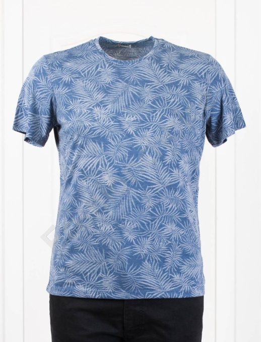 Мъжка макси тениска в свеж десен-парламент-код 2988