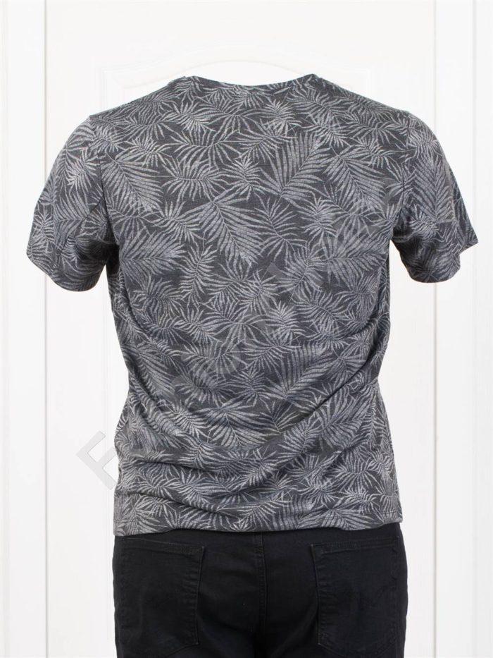 Мъжка макси тениска в свеж десен-черно-код 2988-1