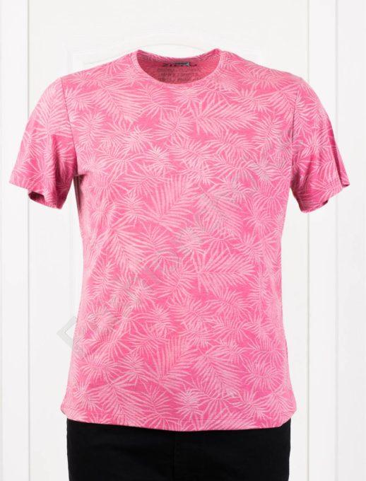 Мъжка макси тениска в свеж десен-цвят малина-код 2988-2