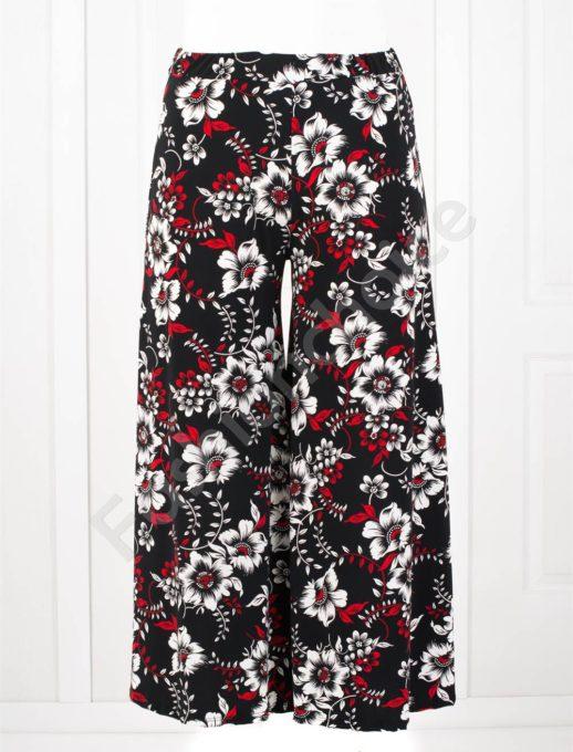 Дълъг макси пола-панталон в десен на нежни цветя-код 618-3