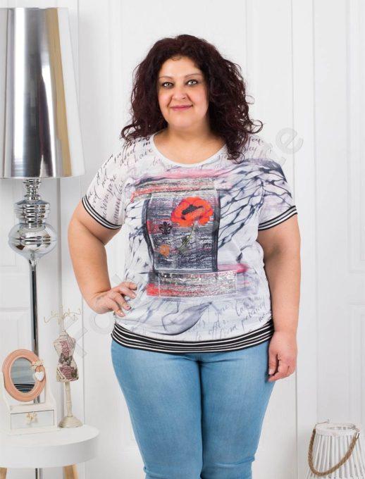 Макси блузка с красив цветен принт-код 01186