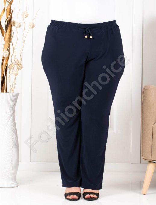Прекрасен летен макси панталон в тъмно синьо/60-66/-код 019-2