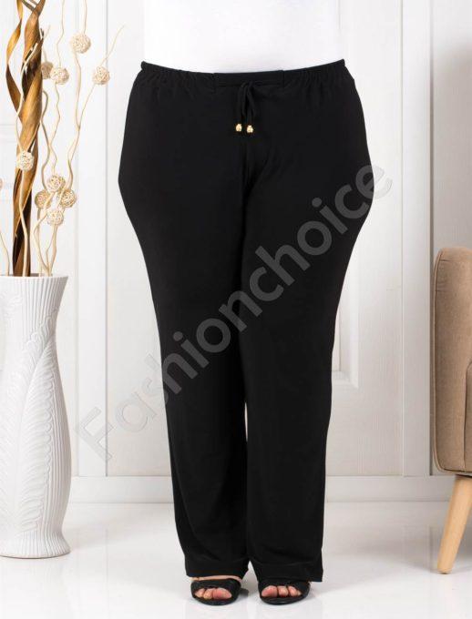 Прекрасен летен макси панталон в черно/60-62-64-66/-код 019