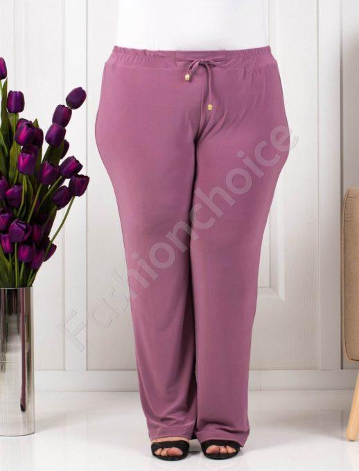 Прекрасен летен макси панталон-пепел от рози/60-66/-код 019-3
