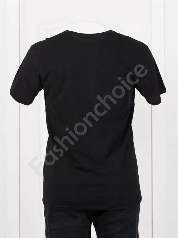 Мъжка макси тениска с голяма щампа в черно-код 100