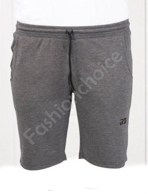 Мъжки макси къси панталонки с двоен джоб в светлосив меланж-код 091-1