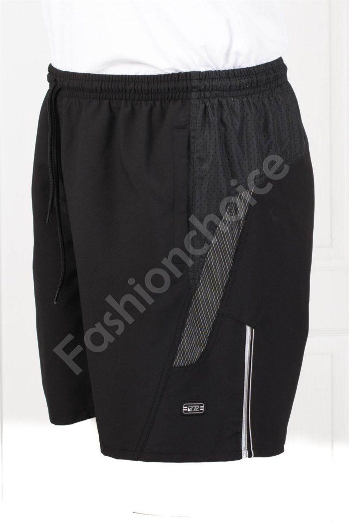 Мъжки макси плувни шорти в черно-код 120