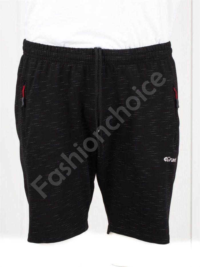 Мъжки макси къси спортни панталони в черно-код 036