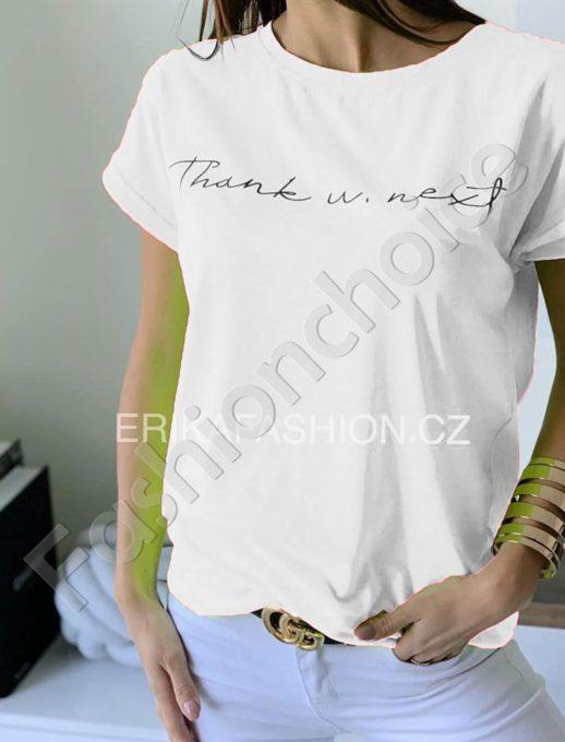 Дамска тениска с къс ръкав в бяло-код 965-12