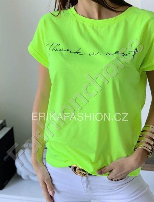 Дамска тениска с къс ръкав в зелен неон-код 965-13
