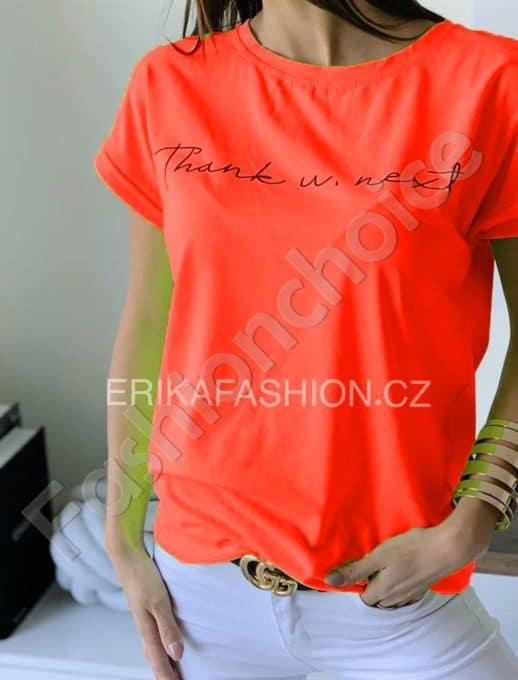 Дамска тениска с къс ръкав в оранжев цвят-код 965-10