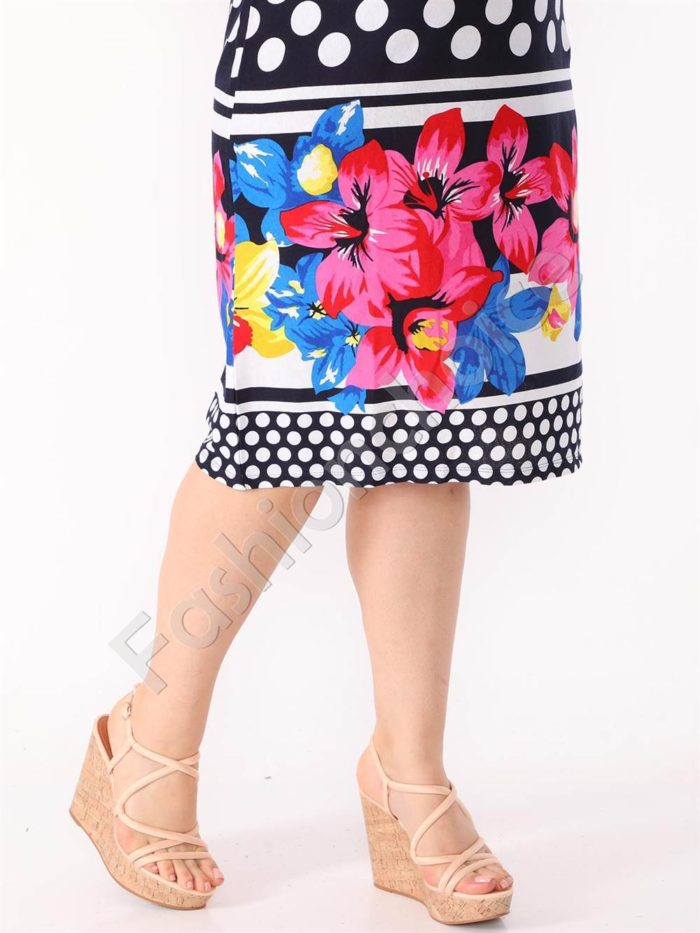 Кокетна макси рокля на точки -код 944-30