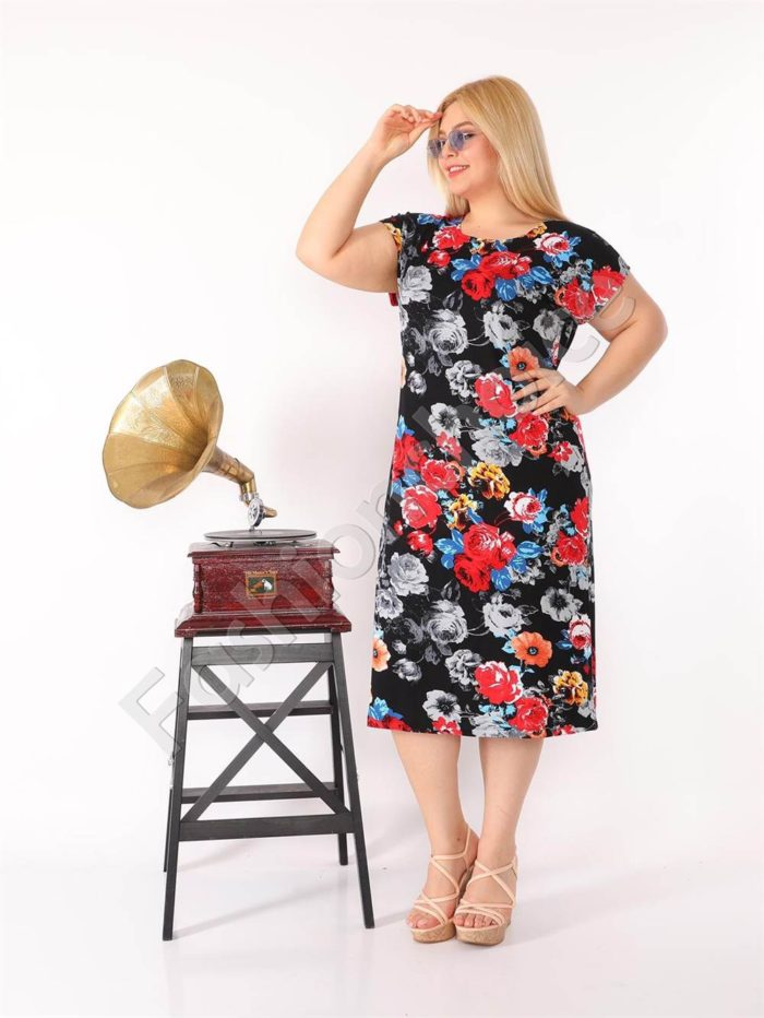 Прекрасна макси рокля в свеж цветен принт-код 944-33