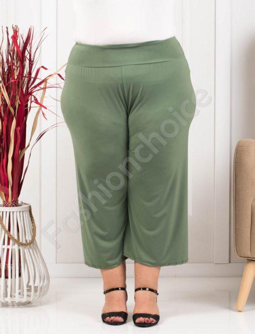 Дамси макси панталон в цвят каки и 7/8 дължина-код 616-1