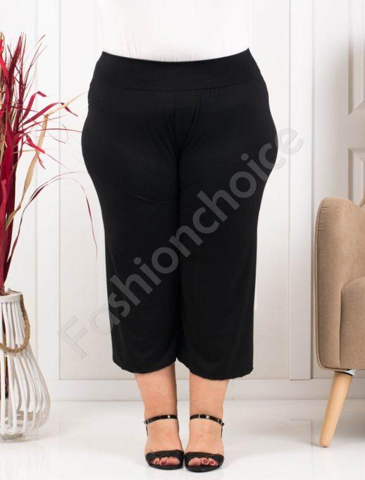 Дамси макси панталон в черно и 7/8 дължина-код 616