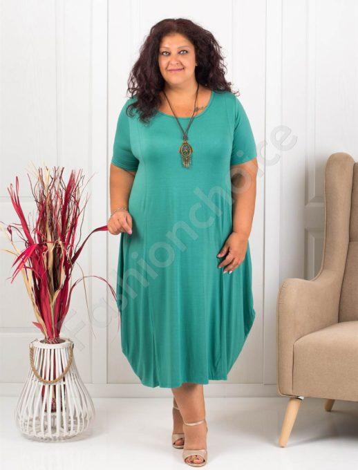 Разкроена макси рокля+подарък бижу-мента-код 619-2