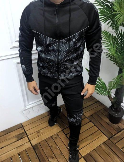 Мъжки спортен комплект в черно NYC-код 257-1