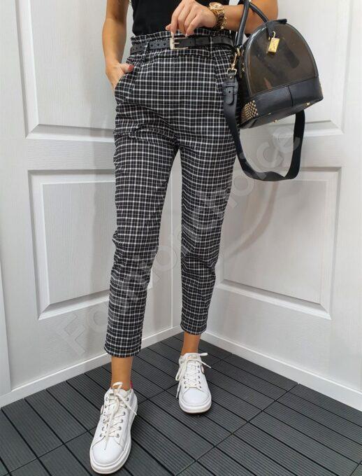 Елегантен дамски панталон с едро каре-код 893
