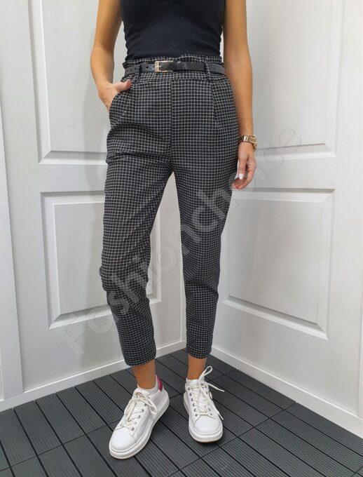 Елегантен дамски панталон в десен каре-код 893-1